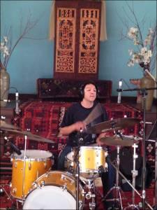 David Flores (known to MoeTar fans) drumming at Polymorph.