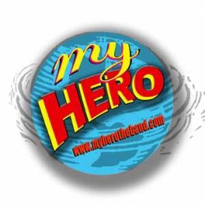 My Hero logo with globe