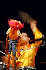 Animal and Craig Dukes drumming