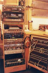 The old rack-tower and patch-bay